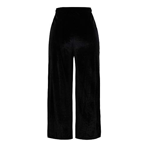 LISTHA Gold Velvet Wide Leg Pants Plus Size Women Causal Loose Trousers