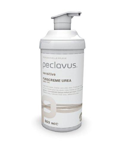 Peclavus Sensitive Fußcreme Urea 10%, Fußpflege, sofortige Hilfe bei trockener Haut, 500 ml Fußpflege