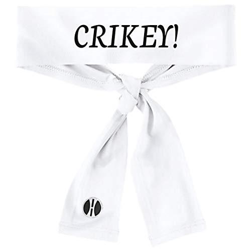 Crikey! Tie Headband (white) -