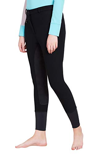 TuffRider Ladies Ribb Lowrise Full Seat Breeches, Black, 34 (Rider Low Shorts Rise)