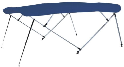 Carver Industries 510A04 4 Bow 91 In-96 In Pacific Blue (Canvas and Boot Only)-Bimini Top Made By Carver Covers