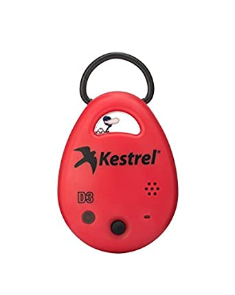 Kestrel DROP D3 Wireless Temperature, Humidity and Pressure Data Logger, Red