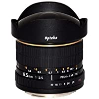 Opteka 6.5mm f/3.5 Manual Focus Aspherical Fisheye Lens for Pentax K-1, K-3 II, KP, K-70, K-S2, K-S1, K-500, K-50, K-30, K-7, K-5, K-3, K20D, K100D and K10D Digital SLR Cameras