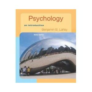 Psychology: An Introduction with In Psych Student CD-ROM and Registration Code Benjamin B. Lahey