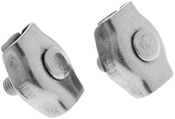 SDENSHI 2pcs M2 M6 Marine Edelstahl Simplex 1 Post Stil Wire Clip Seilklemme - M3