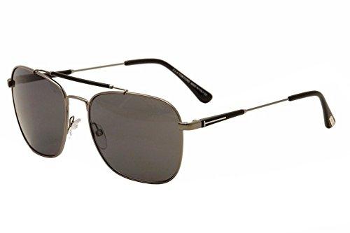 31e3c6665b3 Tom Ford Sunglasses TF 377 Edward Sunglasses 09D Gunmetal and Black 58mm -  Buy Online in Oman.