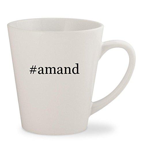 #amand - White Hashtag 12oz Ceramic Latte Mug Cup