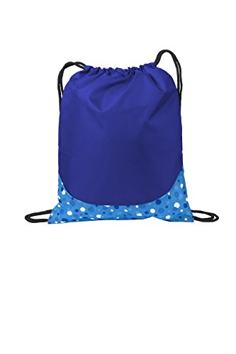 Port Authority luggage-and-bags Patterned Cinch Pack OSFA Bubbles Blue