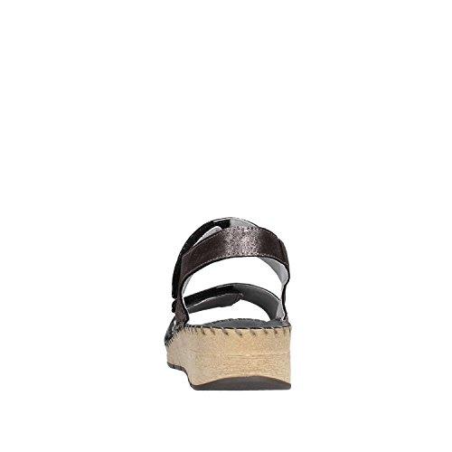 Grünland Caviglia Donna Alla Con Palo Nero Cinturino Sandali XWzrXq8