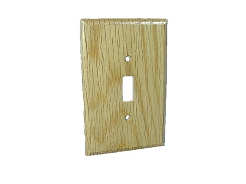 Leviton Unfinished Solid Oak Wallplate