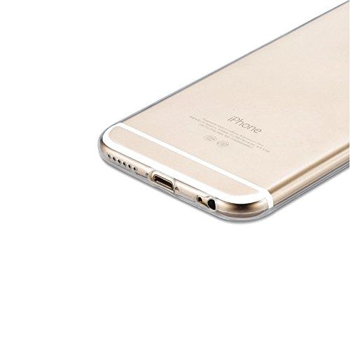 Schutzhülle und Panzerglas als Set TPU Case Silikon Hülle Schutz Cover Transparent mit Panzerglas Schutzfolie Glasfolie von ZhinkArts für Apple iPhone 7