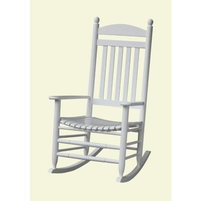 Bradley White Slat Patio Rocking Chair Review