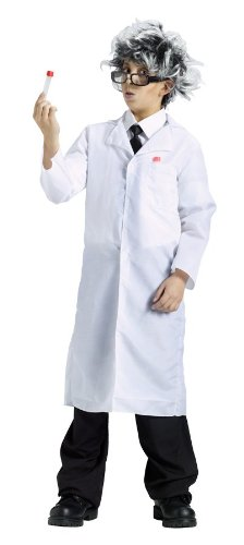 Scientist Costume Crazy (Partyland Lab Coat, Boys (One Size))