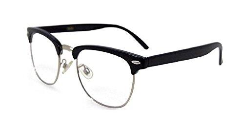 Men and Women Vintage Classic Designer Reading Glasses - Black - Glasses Cheap Reading Plastic