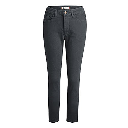 Dickies Women's Perfect Shape Denim Jean-Skinny Stretch, Rinsed Black, - Perfect Shape Woman