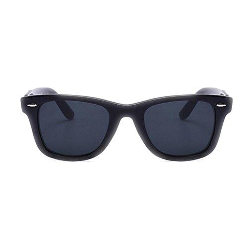 verre Fashion de Big de protection gray WLHW lunettes HD Men's lunettes confort UV Mme Lunettes UVA soleil pilote frame Black soleil XxvqPw