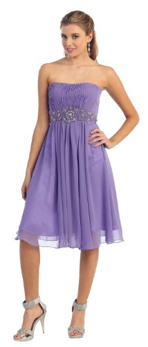 Party Short Cocktail Dress New Designer Prom Gown Sizes 16-26 #711 (22, Lilac)