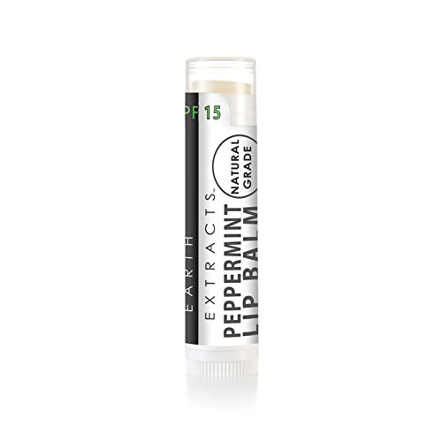 Organic & Natural Lip Balm with Coconut Oil & Vitamin E | Made in USA | Moisturizing | For Men & Women | Smells Amazing! | Cruelty Free (Peppermint SPF (Peppermint Spf 15 Lip Balm)