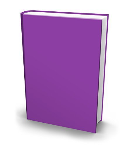 1 X The Original Book Sox: Stretchable Jumbo Fabric Book Cover - Solid Purple