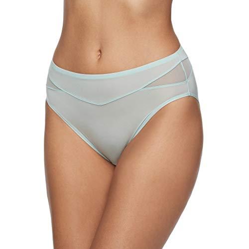 (Vanity Fair Women's Breathable Luxe Hi Cut Panty 13185, Winter Opal, Large/7)