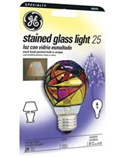 Ge Lighting 46645 25 Watt Stained Glass Light Bulb Incandescent