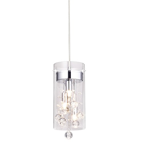 CLAXY Ecopower Lighting Glass & Crystal Pendant Lighting Modern Chandelier for Kitchen by CLAXY