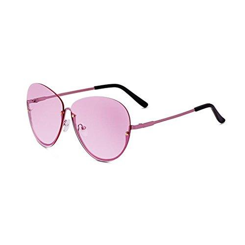 de sol Protección Gold Gafas Gafas sol Nueva conducción UV400 excursionista para sol UV de Personalidad Protección Vintage libre Opcional de de aire colores Transparente estrella mujer Yellow de Frame Gafas Regalo al 4 qHAHwYO