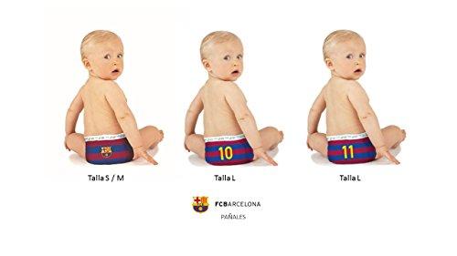 FC BARCELONA PAÑALES DIAPERS NAPPIES, Talla L (9-14kg), 12 unidades, NEYMAR edition: Amazon.es: Salud y cuidado personal