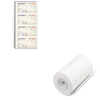 KITABFSC1152PMC05209 - Value Kit - Pm Company Single-Ply Thermal Cash Register/POS Rolls (PMC05209) and CARDINAL BRANDS INC. Two-Part Rent Receipt Book (ABFSC1152)
