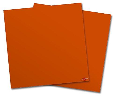 (WraptorSkinz Vinyl Craft Cutter Designer 12x12 Sheets Solids Collection Burnt Orange - 2 Pack)