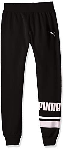 Puma Womens Fleece - PUMA Big Girls' Fleece Cargo Joggers, Black, S