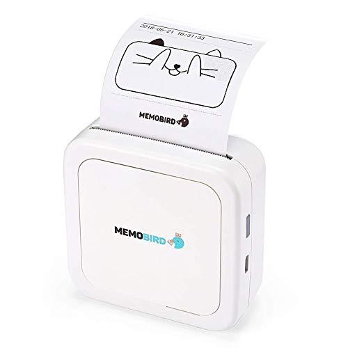 Practical Mini Thermal Printer Mobile Phone Bluetooth Photo Portable Printer Wireless Printer for Android iOS Mobile…
