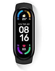 Mi Smart Band 6 x 1,56 full screen, Amoled, 30 trainingsmodi, SpO2-monitor, waterdicht tot 50 m, App Connection Mi Wear en Mi Fit
