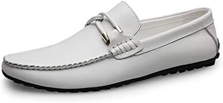 運転ファッションカジュアル男性ローファー高品質金属装飾アップリケリアル本革の靴男フラットシューズクラシックエンボス加工テクスチャ(従来のオプション)