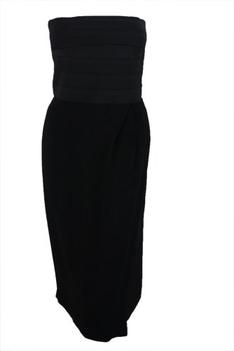 Boy. by Band of Outsiders Womens Black Bandaged Top Strapless Dress 1