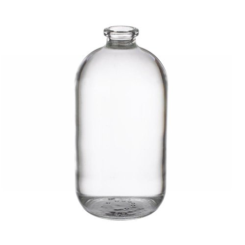 Wheaton 223748 Serum Bottle 125mL, Clear Borosilicate Glass, Mouth Dimensions: 13mm ID x 20mm OD, Bottle Dimensions: 54mm Diameter x 107mm Height (Case of 144)