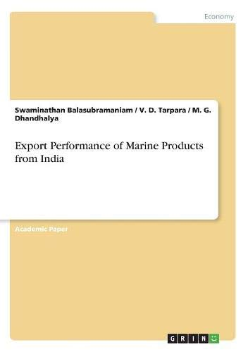 Download Export Performance of Marine Products from India ebook