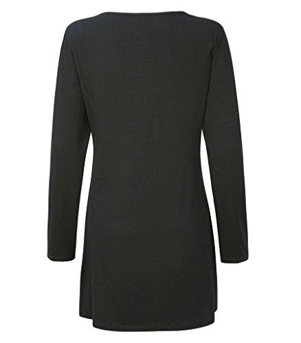 Casamia - Camiseta de manga larga - para mujer Grey and Black