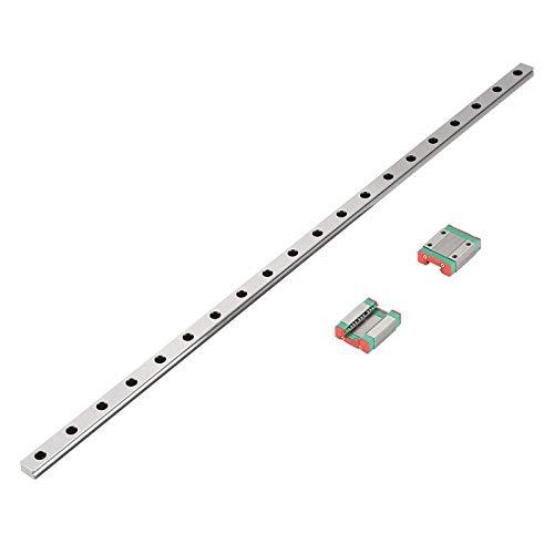 2pcs MGN12B Slide Blocks Linear Rails Linear Slide Rail 500mm Length 12mm Width MGN12 Miniature Sliding Linear Guide Rail