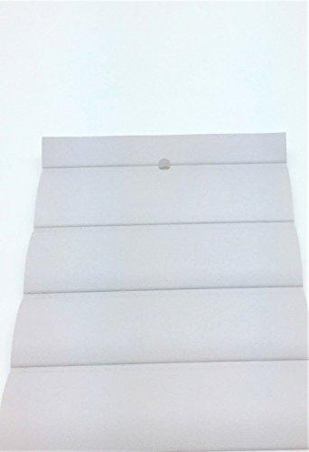 Used, 1 Yard Pleated Marine Vinyl Fabric Platinum