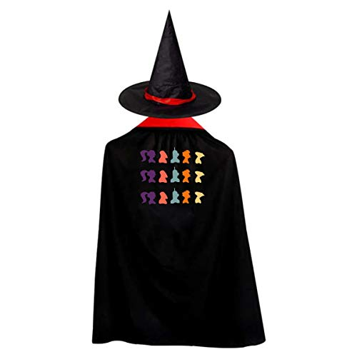Futurama Silhouette Halloween Costumes Witch Wizard Kids Cloak Cape For Children Boys Girls -