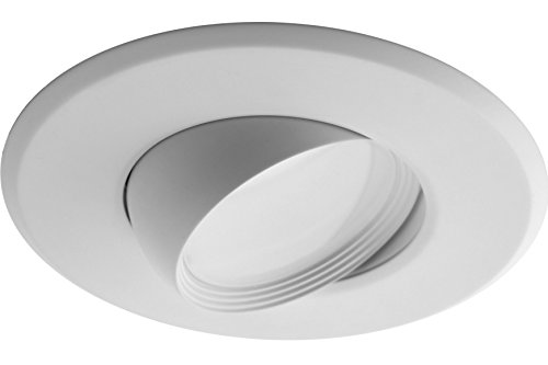 NICOR Lighting 5/6-Inch Dimmable 2700K Adjustable Eyeball LED Recessed Retrofit Downlight, White (DEB56-20-120-2K-WH) by NICOR Lighting