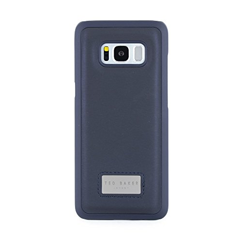 Ted Baker AW18 Fashion Inlay Back Shell for Samsung Galaxy S8 Premium Quality Cover for Professional Men/Boys - GOGO - Navy