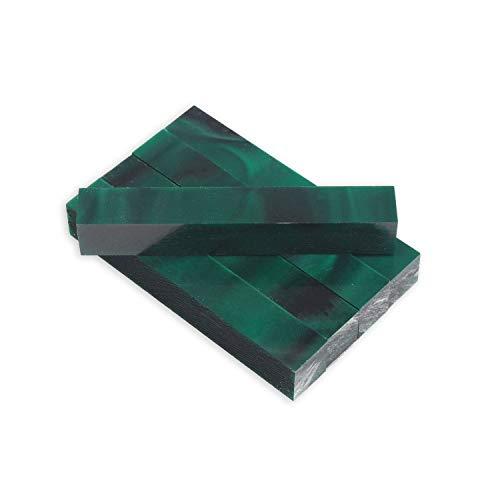 Legacy Woodturning, Acrylic Pen Blank, Dark green with black line, 5
