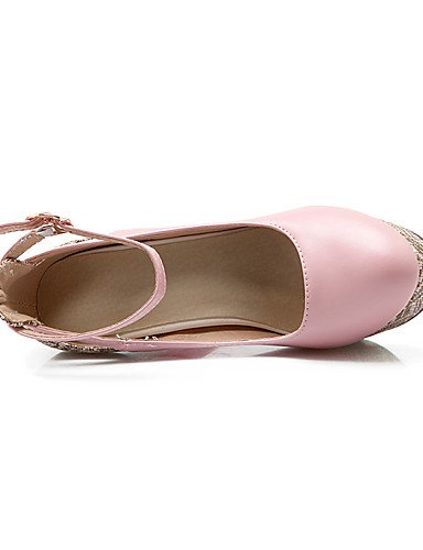 Uk5 Uk8 Botas Las De Gruesos Ggx Pink Dedo Zapatos Cuero Combate Comodidad Cn38 5 us7 Eu42 5 Mujeres Estilos Cn43 Beige Eu38 Gladiador 5 Vaca us10 Novedad 5 Del FHxxY