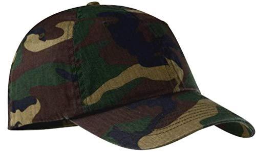 Ocean Desert Sales Camouflage Baseball Cap Hat, Woodland Camo, 100% Cotton ()