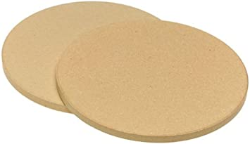 Old Stone Oven Pizza for Two Round Stones, 8.5-Inch, 2-Pack