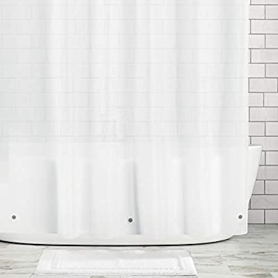 Clear Mold//Mildew Resistant mDesign STALL Sized Waterproof Heavy Duty Premium Quality 10-Guage Vinyl Shower Curtain Liner for Bathroom Shower Stall and Bathtub 54 x 78