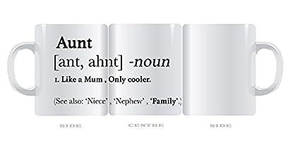Divertido regalo taza para la tía tiíta diccionario definición ml Copa