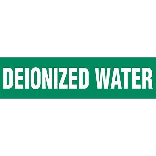 GHS Safety PM1081RF,''Deionized Water'' Plastic Sheet and Pipe Marker, Pack of 15 pcs